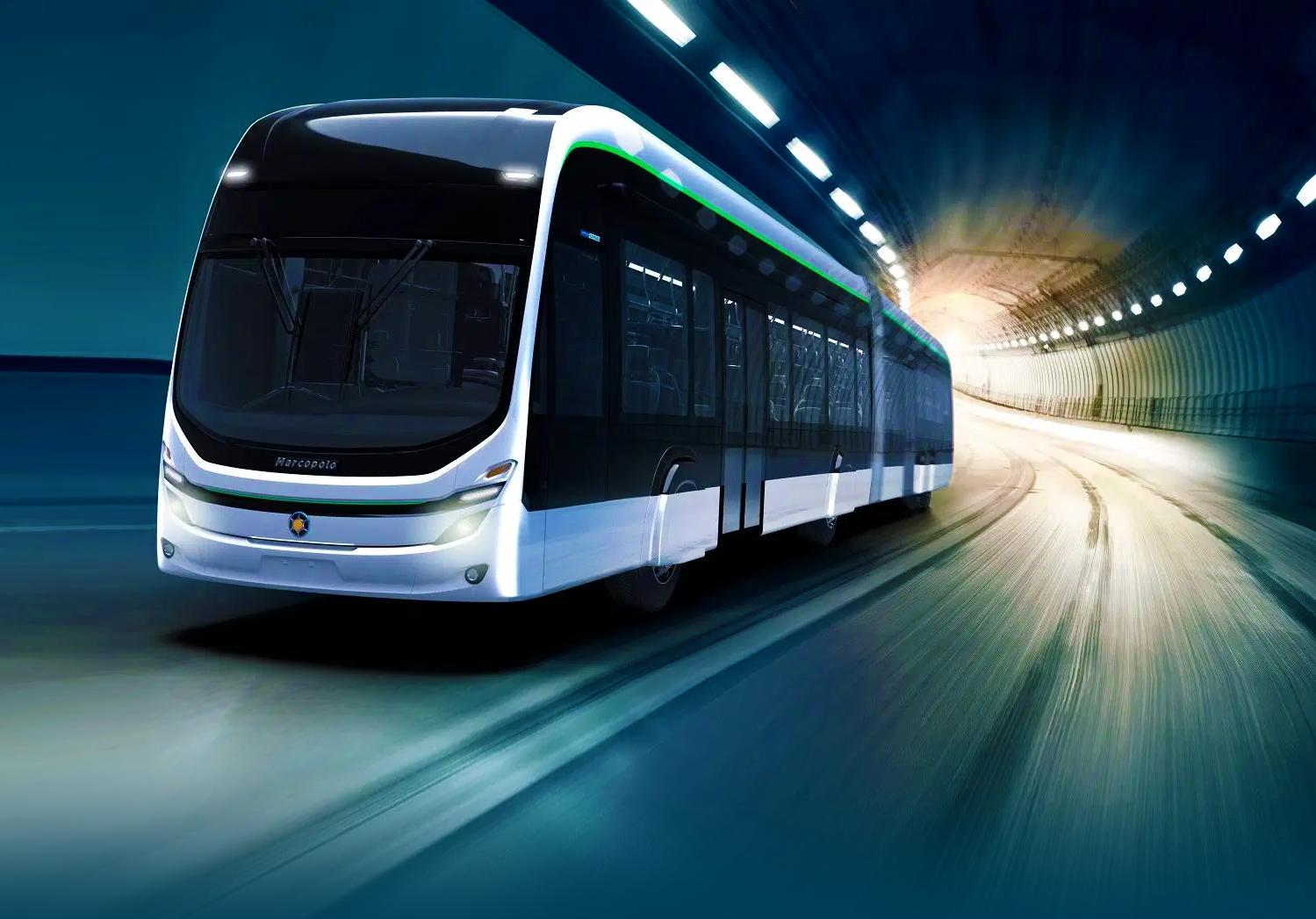 Ônibus elétrico intermunicipal inicia testes no Paraná